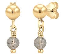 Ohrringe Ohrhänger Kugel Labradorit Edelstein 925er Silber