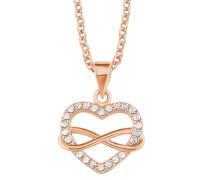 Damen-Halskette mit Herz und Infinity