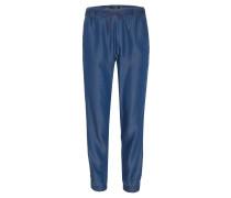 Stoffhose, Jeans-Optik, Gummibund, Taschen
