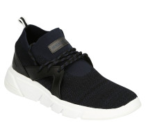 Sneaker, Knit-Optik, zweifarbig, markante Sohle