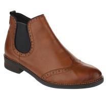 Chelsea Boots, Loch-Muster, Leder, Reißverschluss