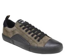 Sneaker, zweifarbig, Schnürung