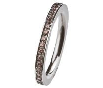 EDvita Ring, Edelstahl, Zirkonia R265.BR.53