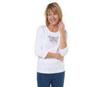 Shirt, 3/4-Arm, Strass-Katze, Baumwolle