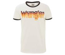 T-Shirt, Baumwolle, Print, Kontrastbündchen