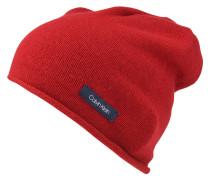 Mütze, Strick, Kaschmir-Anteil, Logo-Patch