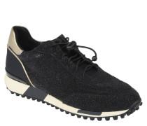 Sneaker, Glitzer-Optik, Quicklace