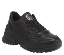Sneaker, Leder, Plateau-Sohle, Schnürung