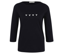 Shirt, 3/4-Arm, Herz-Print