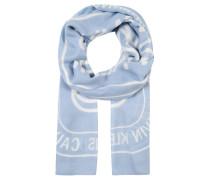 Schal, Allover-Print, leicht transparent