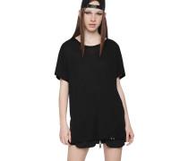 T-Shirt, Oversized, Rundhals, Piercing-Detail