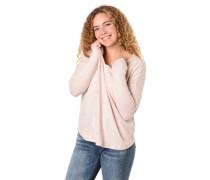 Langarmshirt, Perlen-Verzierung, V-Ausschnitt