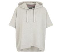 Sweatshirt, Kapuze, Poncho-Design, meliert