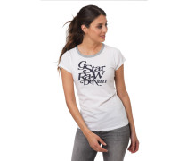 "T-Shirt ""Civita"", Slim Fit, Marken-Print, Kontrast-Blende"