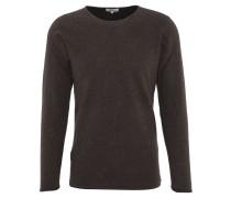 Pullover, Baumwolle, Rundhalsausschnitt, Rollsaum, uni