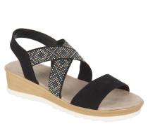 Sandalen, Keilabsatz, Nieten, kreuzende Riemchen