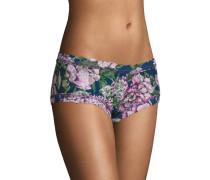 Panty, leicht transparent, Bordüre, Blumenmuster