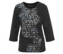 Shirt, 3/4-Armlänge, Print, Strass, reine Bio-Baumwolle
