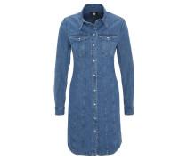 Jeanskleid, tailliert, Knopfleiste, Brusttaschen