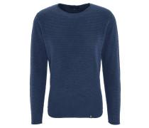 Pullover, Struktur-Muster, Rundhalsausschnitt, unifarben