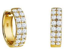 Creolen 585 Gelb mit 32 Diamanten, zus. ca. 0