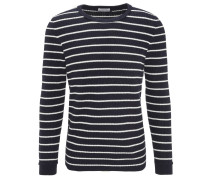 Pullover, gestreift, Grobstrick, Rundhalsausschnitt