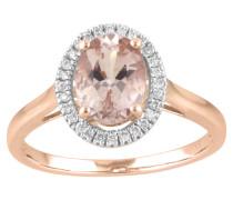Ring  585 mit Diamanten, zus. ca. 0,1 ct