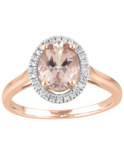 Ring  585 mit Diamanten, zus. ca. 0,1 ct