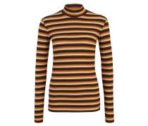Pullover, Strick, gestreift, Stehkragen