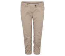 Jeans, Capri-Länge, Tapered Leg, unifarben
