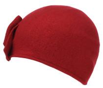Mütze, Filz, Schleife, reine Schurwolle