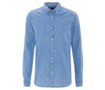 Freizeithemd, Allover-Print, Regluar Fit, Button-Down-Kragen