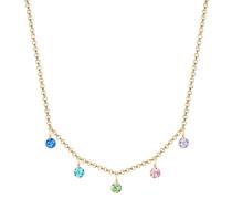 Halskette Bunt Regenbogen Swarovski® Kristalle 925er Silber