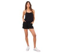 Jumpsuit, kurz, Eingrifftaschen, Stretch, uni