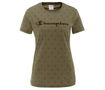 T-Shirt, Regular Fit, Allover-Logo-Print, Baumwolle
