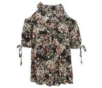 Blusenshirt, Halbarm, Cold-Shoulder, florales Muster