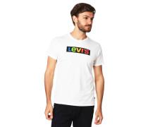 T-Shirt, Baumwolle, Logo-Print, Rippblende