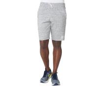 Shorts, Feuchtigkeitstransport, Melange, Label-Stickerei