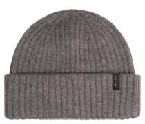Mütze, Merinowolle, Ripp-Strick, unifarben