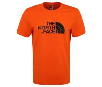 """T-Shirt """"Easy"""", Logo-Print, Rundhalsausschnitt"""
