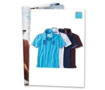 Polo-Shirt, Print, Streifen-Details