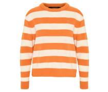 Pullover, Strick, Streifen, Rundhalsausschnitt, Ärmeltasche