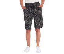 Shorts, Gummibund, Schleifen-Applikation, gemustert