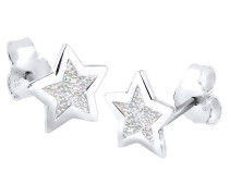 Ohrringe Stern Trend Astro Filigran 925 Silber
