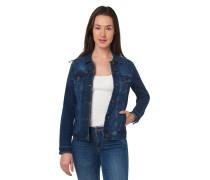 Jeansjacke, leichte Waschung, Brusttaschen, Baumwoll-Mix