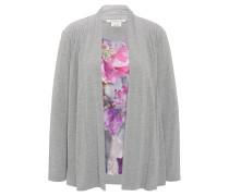 Shirtjacke, integriertes Top, Zierfalten, offene Front