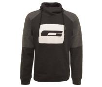 Sweatshirt, Front-Print, Wickelkragen