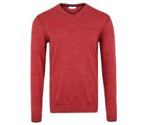 Pullover, Strick, meliert, V-Ausschnitt