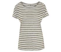 T-Shirt, gestreift, überschnittene Schulter