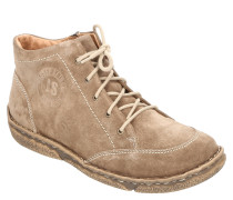 Boots, Kontrastnähte, Reißverschluss, Veloursleder, Marken-Prägung